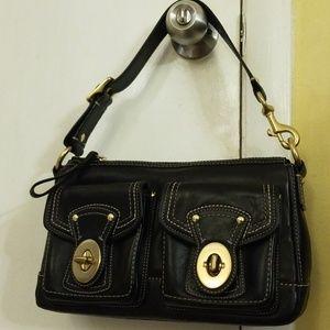 Coach vintage black leather pocketbook